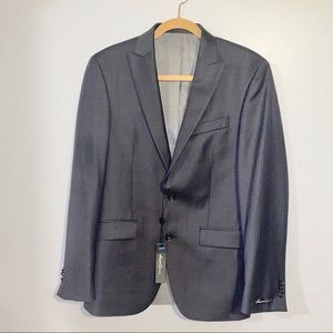 Kenneth Cole Slim Fit Dark Gray Wool Blazer
